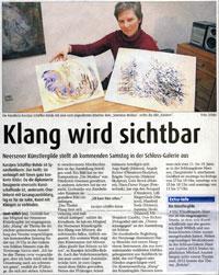 Presseartikel Klang 2014 Willicher Nachrichten