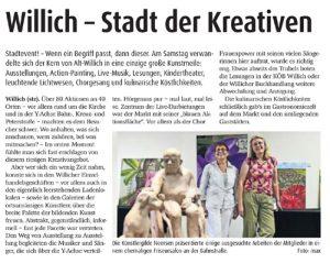 Presseartikel 2015 Willicher Nachrichten